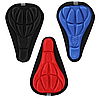 Мягкая накладка-чехол на велосипедное седло черная синяя красная