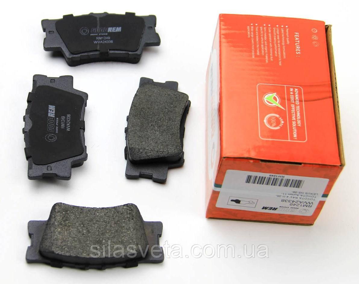 Тормозные колодки задние GOODREM (RM1249) Camry/Rav 4 05-