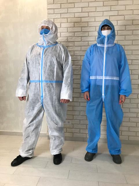 Защитные костюмы одноразовые