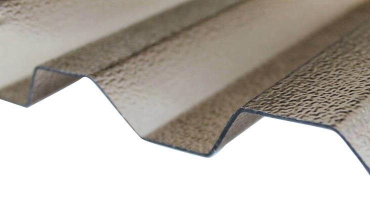 Поликарбонатный шифер rober бронзовый трапеция 0.8 мм
