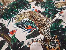 Креп шовк Леопард тканину для одягу