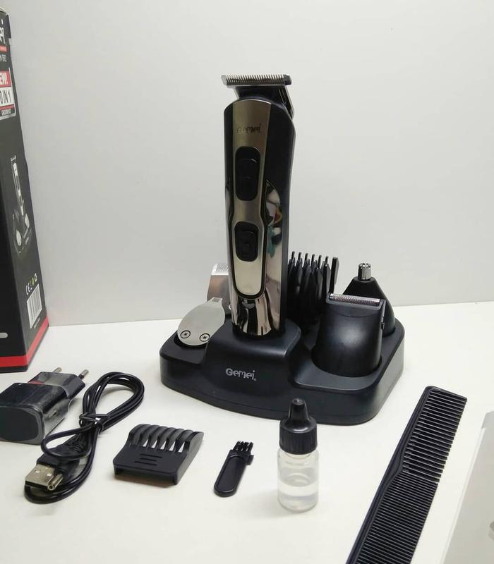Машинка для стрижки Gemei Gm-592 10 в 1 Аккумуляторная набор для стрижки волос и бороды