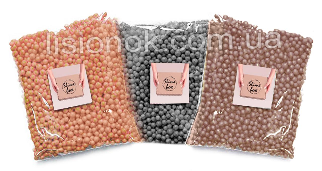 """Пенопластовые шарики """"три шоколада"""" для слаймов – 6000 штук, для создания кранч слаймов (crunchy slime)"""