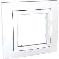 Рамка 1-модульная белая Unica Basic