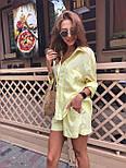 Жіночий літній костюм: сорочка та шорти (кольори), фото 3