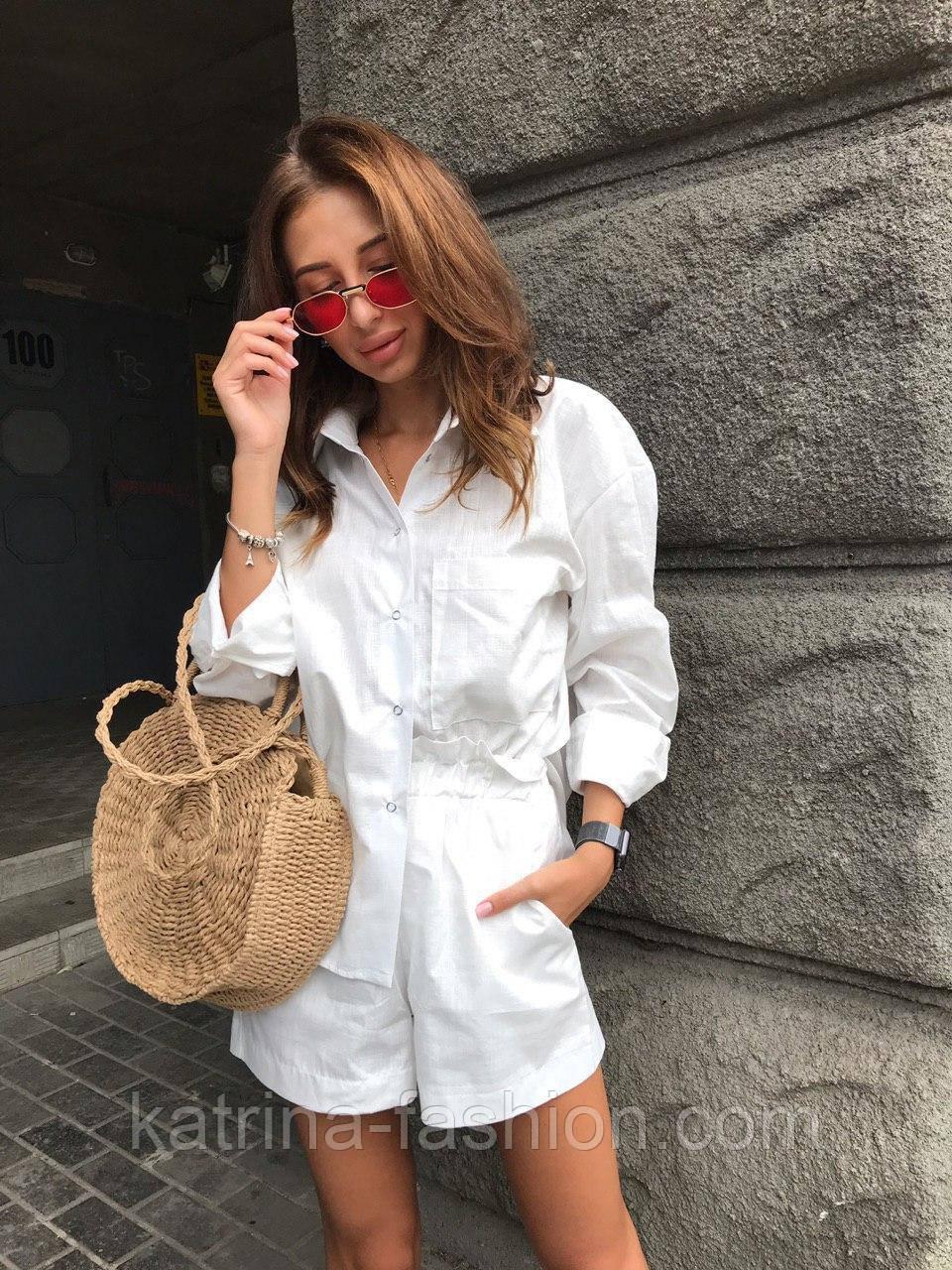 Жіночий літній костюм: сорочка та шорти (кольори)