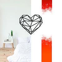"""""""Серце"""" декоративна дерев'яна картина абстрактна модульна полігональна панно """"Heart"""""""