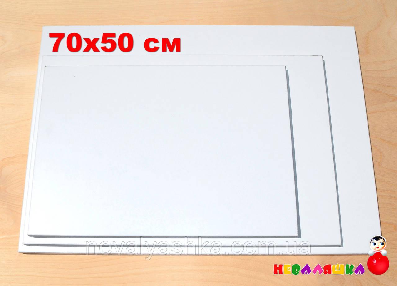 Белая Основа для Бизиборда 70х50 см (толщина 1,8 см) Заготовка Біла Основа для Бізіборда ЛДСП 18 мм