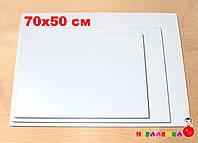 Белая Основа для Бизиборда 70х50 см (толщина 1,8 см) Заготовка Біла Основа для Бізіборда ЛДСП 18 мм, фото 1