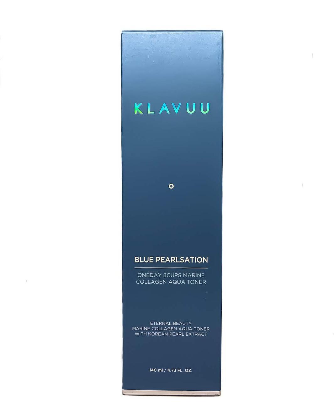 Зволожуючий тонер з морським колагеном Klavuu Blue Pearlsation One day 8cups Marine Collagen Aqua toner