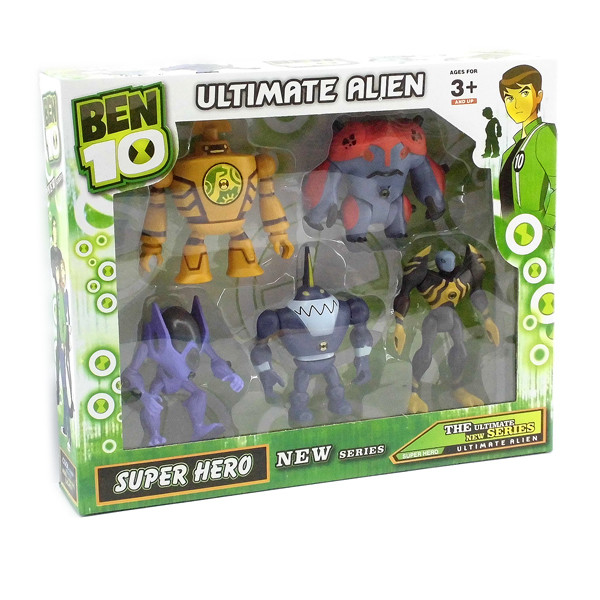 Набор Ben10 - 5 светящихся фигурок 5 серии