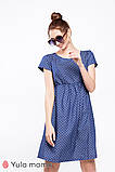 Платье для беременных и кормящих из тонкого джинса с принтом CELENA DR-29.011, фото 2
