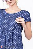 Платье для беременных и кормящих из тонкого джинса с принтом CELENA DR-29.011, фото 7