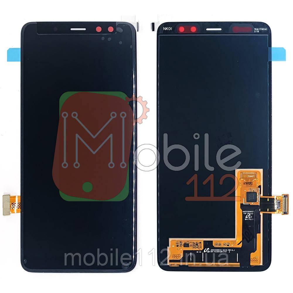 Экран (дисплей) Samsung Galaxy A8 2018 A530F + тачскрин черный оригинал 100%