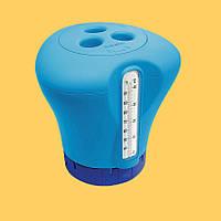 Дозатор Kokido (для больших и маленьких таблеток) с термометром. Аксессуары для бассейна