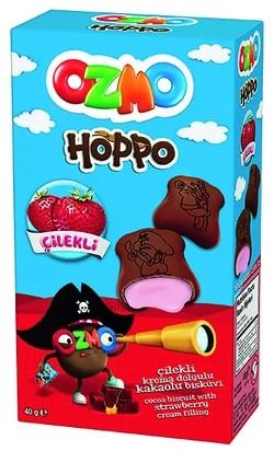 """Печиво """"Ozmo hoppo"""" полуничне 40 гр 12 шт"""