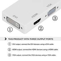 Переходник для MacBook Pro Thunderbolt к DVI + VGA + HDMI черный, фото 2