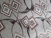 Гобелен ромб лист коричневый обивочная мебельная ткань Турция, фото 1