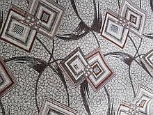 Гобелен ромб лист коричневий оббивна меблева тканина Туреччина