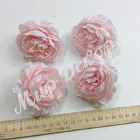 Голова розы пионовидной, розовая