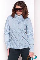 """Женская демисезонная куртка голубая """"S"""" (3020.1.1)"""