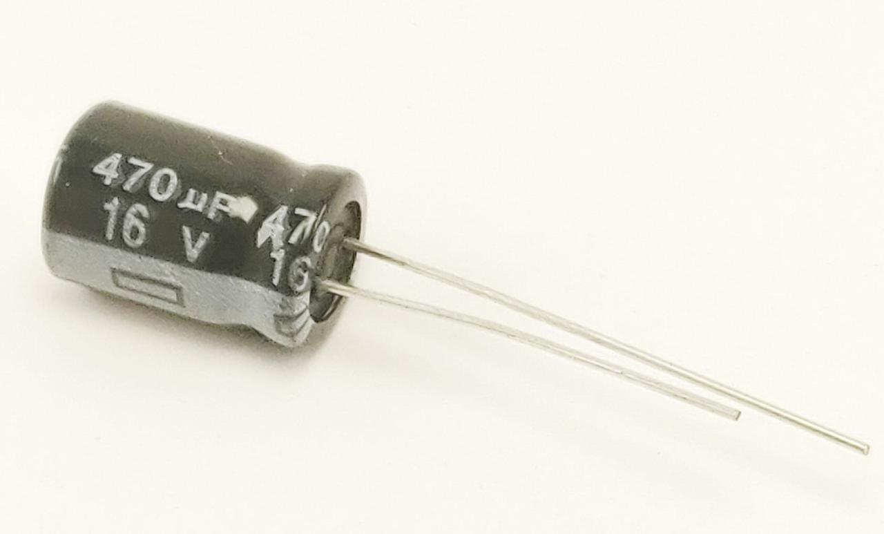 Конденсатор электролитический 470uF 16V 8х12 мм