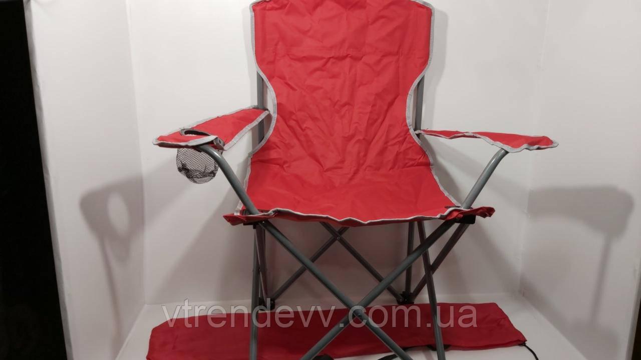 Кресло раскладное Паук с подстаканником EL2703 Красное 55*55*95