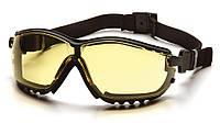 Захисні тактичні окуляри Pyramex V2G з жовтими лінзами і знімними дужками, фото 1