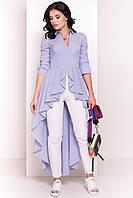 """Женское нарядное платье темно-синее в белую полоску """"S"""" (12378.2.1)"""