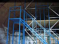 Многоуровневая система хранения на основании палетных стеллажей