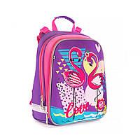 """Рюкзак школьный каркасный YES H -12  """"Flamingo"""""""