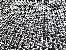 Рогожка черно-белая обивочная ткань для мебели