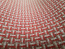 Рогожка червоно-біла оббивна тканина для меблів
