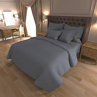 Комплект постельного белья Gold Однотонный темно-серый / G - A-17 КПБ семейный
