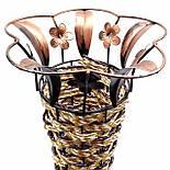 Ваза плетеная декор цветочек, цвет микс 62 см, фото 2