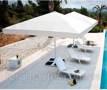 Зонт для летних кафе 4х4м с утяжелителями из плотной ткани