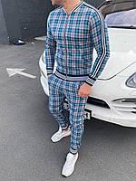 Мужской стильный спортивный костюм в клетку Джентльмен
