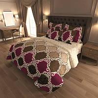 Комплект постельного белья Gold Цветной орнамент 2 / G - 7424-A-B