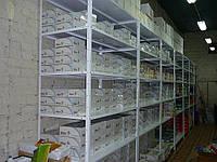 Стеллажи для хранения в коробках