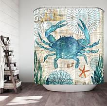 Шторка-занавеска в ванную «Краб» 170×180 см
