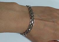 Браслет мужской из серебра 925 черненный, размер 19,5
