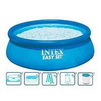 Надувной бассейн наливной Intex 26176/28176 круглый 549х122см
