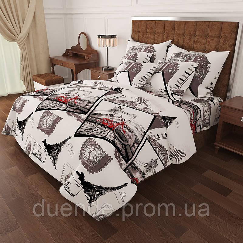 Комплект постельного белья Gold Лондон Париж / G - 7034