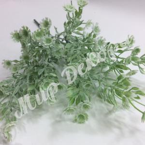 Букет ромашек мелких пепельных, белый, 30 см