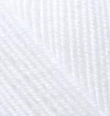 Турецкая пряжа Alize Superlana Klasik для ручного вязания полушерсть белый №55