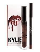 Матовая Помада Kylie + контурный Карандаш (TRUE BROWN K)