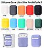 Чехол для наушников AirPods 1/2 Silicone Case Slim, фото 2