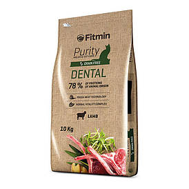 Fitmin cat Purity Dental / полноценный корм для взрослых кошек с эффектом защиты ротовой полости (ягненок)