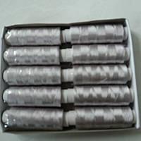 Нитки шелковые светло-серые, серебряные