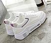 Кроссовки женские Look Белые с фиолетовым, фото 5